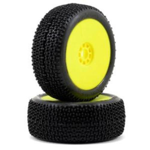 1:8 BUGGY CITYBLOCK SUPER SOFT EVO WHEEL PRE-MOUNTED YELLOW (ONE PAIR)//반대분