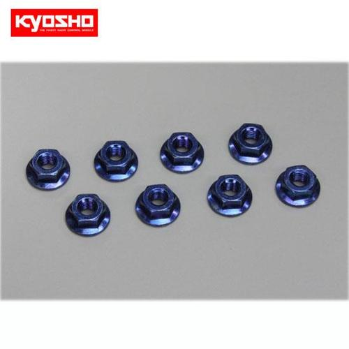 [KY1-N4045F-B]Nut(M4x4.5) Flanged (Steel/Blue/8pcs)