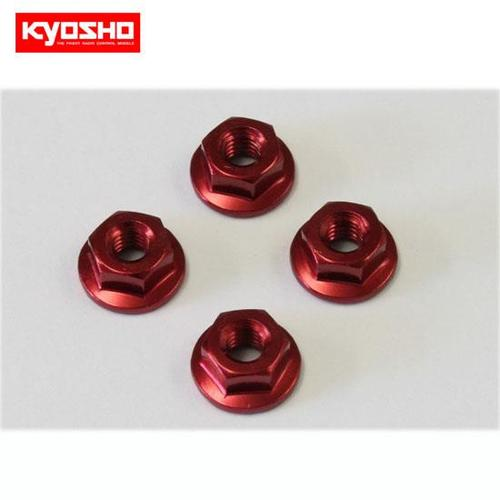 [KY1-N4045FA-R]Nut(M4x4.5)Flanged(Aluminum/Red/4pcs)