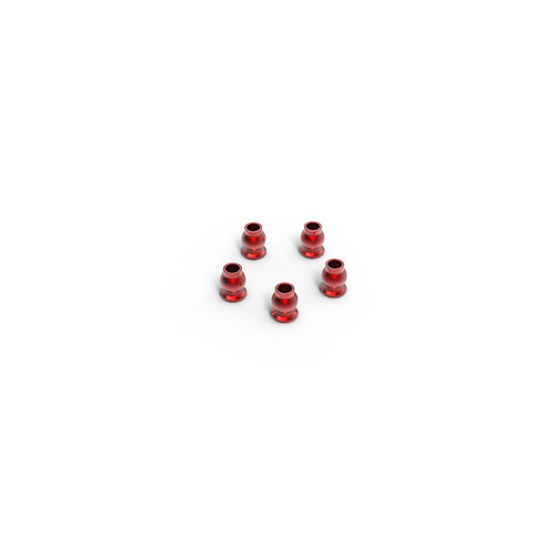 Aluminum shock end ball 5.8x7.3mm (Red) (5)  GM30118