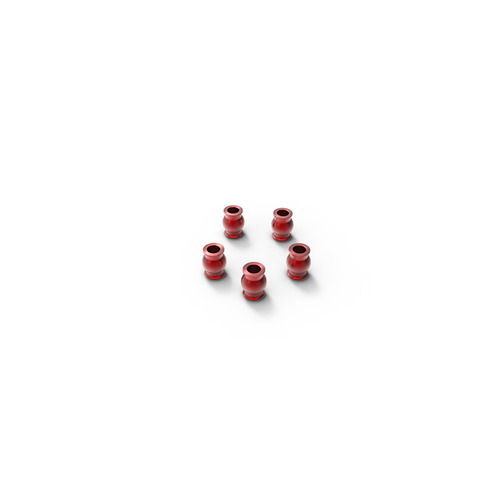 Aluminum rod end ball 5.8x7.3mm (Red) (5)  GM30116