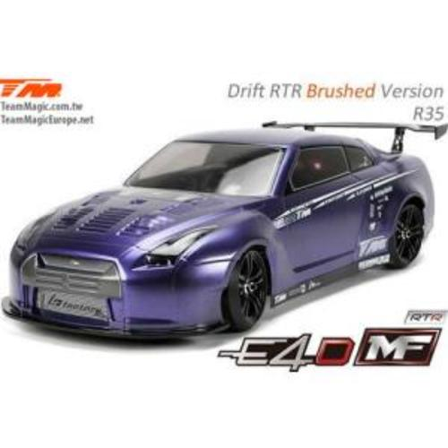(풀 카본-RTR 전동 드리프트) E4D MF Drift Car Silver Ver. RTR-R35