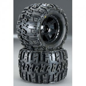 [AP1184-13] Trencher X 3.8인치 Tire w/Desperado 17mm MT Wheels (Black) (2) (1/2인치 Offset)