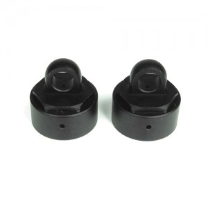 TKR6003 – Vented Shock Caps (aluminum, gun metal anodized, 2pcs)
