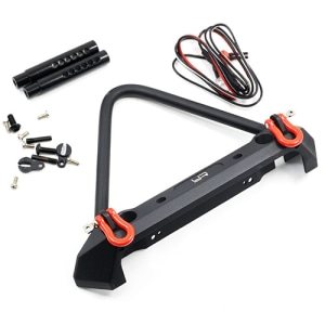 YA-0548 Yeah Racing Aluminum Alloy Front Bumper w/ LED Light For Axial SCX10 II Traxxas TRX-4