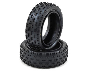"한시적 할인~ [U6810] Schumacher Wide ""Stagger Rib"" 2.2"" 1/10 4WD Buggy Front Tire (2) (Yellow)  // 4륜 버기 프론트 전용타이어"
