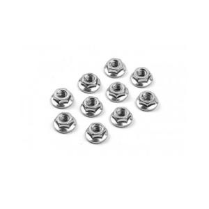 960240 NUT M4 WITH SERRATED FLANGE (10)