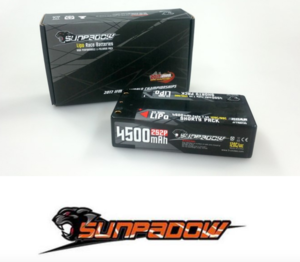 SUNPADOW Shorty Lipo 4500mah-7.4V-120C/60C(#SPD4500)