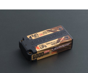 SUNPADOW Shorty HV Lipo 6000mah-7.6V-100C/50C (#SPD6000S)