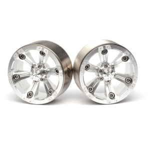 BRW760932AS CHROMA™ 1.9 High Mass Beadlock Aluminum Wheels Spoke-6 (2) Silver [RECON G6 The Fix Certified]