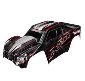 AX7711R Body, X-Maxx, red (painted, decals applied) (assembled with tailgate protector)