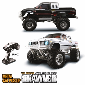 [예약]부르져 클론 제품-1/10 2.4G 4WD Rally Rc Car Metal 4X 4 Pickup Truck Rock Crawler RTR Toy Sale