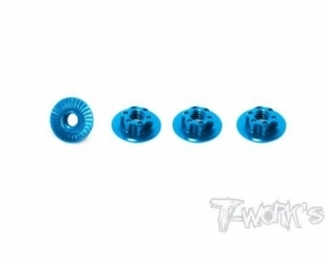 7075-T6 Light Weight large-contact Lo Profile Serrated M4 Wheel Nuts (4pcs) (#TA-127TB)   // 휠너트