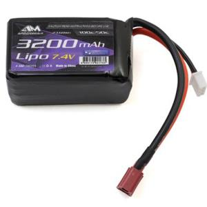 (타미야 댄싱 라이더) AM Lipo 3200mAh 7.4V For Dancing Rider Soft Pack With Deans