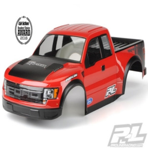 도색완료/커팅완료  숏코스트럭바디 True Scale Ford F-150 Raptor SVT Body for PRO-2 SC, 2WD/4x4 Slash, SC10 (Requires Pro-Line Extended Body Mount Kit, Sold Separately)