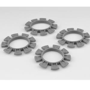 "JConcepts ""Satellite"" Tire Glue Bands (Gray) - fits 1/10th, SCT and 1/8th buggy  2212-8"