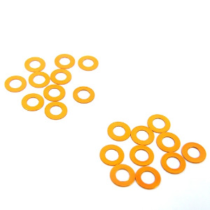 Yeah Racing Aluminum M3 Flat Washer1mm 20pcs Orange #  YA-0393OR