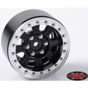 "(4PC 한대분) Raceline Monster 1.9"" Beadlock Wheels (Black/Silver)  [Z-W0189 ]"