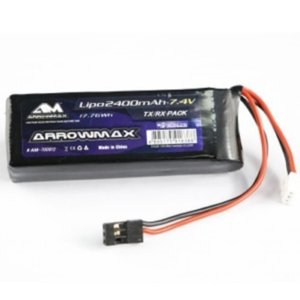 (SWORK, Mugen, 어소시, 8ight-X, 서펜트) AM-700912 AM Lipo 2400mAh 2S TX/RX 7.4V Flat Pack  [AM-700912]