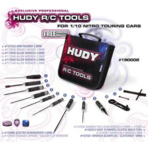 190002 HUDY SET OF TOOLS + CARRYING BAG - FOR NITRO TOURING CARS