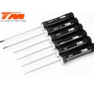"Tool Set - Team Magic Black Magic RC - Hex Wrench .05"" / 1/16"" / 5/64"" / 3/32"", Phillips and Flat Screwdrivers  [117058]"