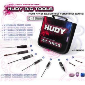 190001 HUDY SET OF TOOLS + CARRYING BAG - FOR ELECTRIC TOURING CARS