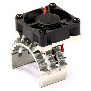 T2 Motor Heatsink w/ Cooling Fan for Traxxas 1/10 Stampede 4X4 & Slash 4X4 (Silver)     [T8635SILVER]