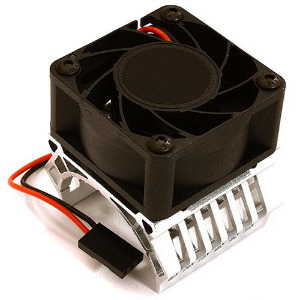 36mm Motor Heatsink+40x40mm Cooling Fan 17k rpm for 1/10 TR-MT10E & TRX-4 (Silver). [C28600SILVER]