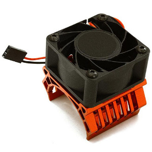 36mm Motor Heatsink+40x40mm Cooling Fan 17k rpm for 1/10 TR-MT10E & TRX-4 (Red). [C28600RED]