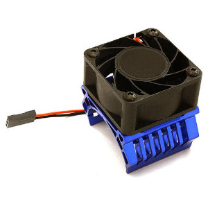 36mm Motor Heatsink+40x40mm Cooling Fan 17k rpm for 1/10 TR-MT10E & TRX-4 (Blue). [C28600BLUE]