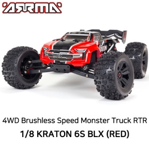 [최신버전] V5 ARRMA 1:8 KRATON 6S V5 4WD BLX Speed Monster Truck with Spektrum Firma RTR, 레드/블루 선택 가능  ARA8608V5T1  ARA8608V5T2