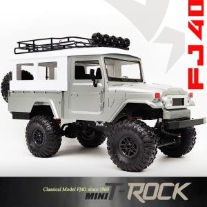 [minit -lc40S] 2.4G 1:12 mini trock 4WD Rc Car rock Vehicle Truck (미니 티락 FJ40) 실버
