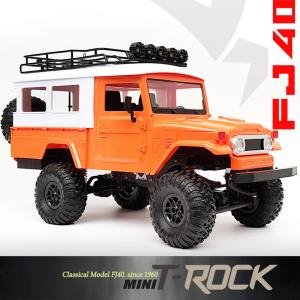 [minit -lc40OR] 2.4G 1:12 mini trock 4WD Rc Car rock Vehicle Truck (미니 티락 FJ40) 오렌지