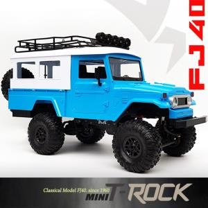 [minit -lc40B] 2.4G 1:12 mini trock 4WD Rc Car rock Vehicle Truck (미니 티락 FJ40) 블루